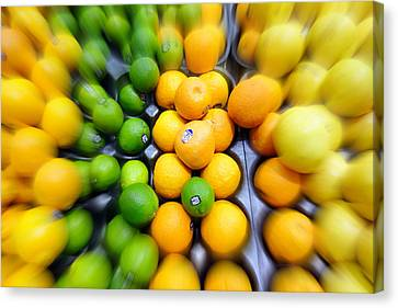 Lime Canvas Print - Citrus by Valentino Visentini