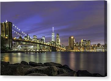 Canvas Print featuring the photograph City 2 City by Anthony Fields