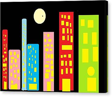 City 23 Canvas Print by Ronald Weatherford