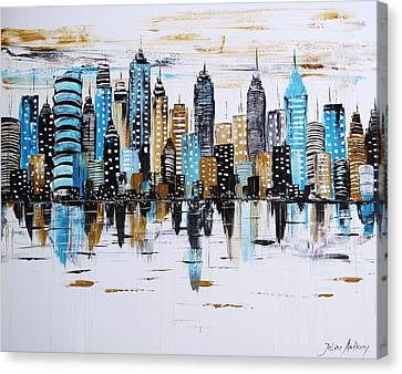 City Abstract Canvas Print by Jolina Anthony