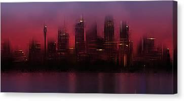 City-art Sydney Skyline Canvas Print by Melanie Viola