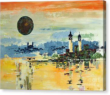 City Canvas Print by Artists Gallery
