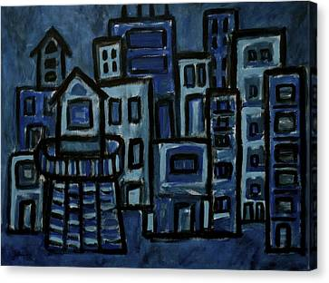 City At Night Canvas Print by Jeff Gater