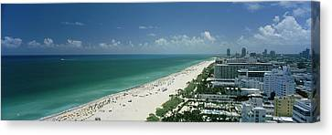 City At The Beachfront, South Beach Canvas Print by Panoramic Images
