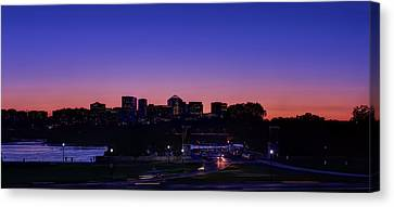 Workers Canvas Print - City At The Edge Of Night by Metro DC Photography