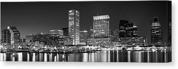 City At The Waterfront, Baltimore Canvas Print by Panoramic Images