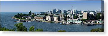 City At The Waterfront, Kingston Canvas Print by Panoramic Images
