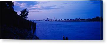 City At The Waterfront, Mississippi Canvas Print by Panoramic Images