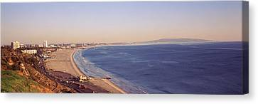 City At The Waterfront, Santa Monica Canvas Print by Panoramic Images