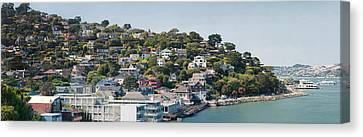 City At The Waterfront, Sausalito Canvas Print by Panoramic Images