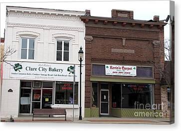 Clare Michigan Canvas Print - City Bakery In Clare Michigan by Terri Gostola