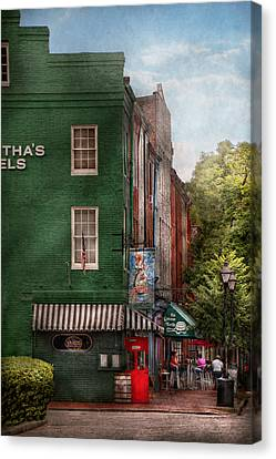 Suburbanscenes Canvas Print - City - Baltimore - Fells Point Md - Bertha's And The Greene Turtle  by Mike Savad