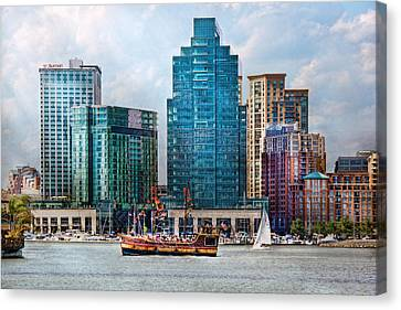 Mike Canvas Print - City - Baltimore Md - Harbor East  by Mike Savad