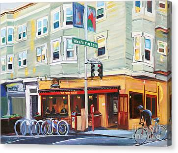 City Bike At Polk And Washington Canvas Print by Colleen Proppe