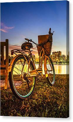 City Bike Canvas Print by Debra and Dave Vanderlaan