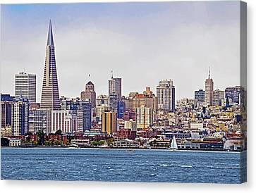 City By The Bay Canvas Print by Sindi June Short