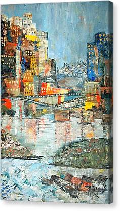 City By The River - Sold Canvas Print