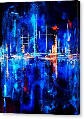 City By The Sea Iv Canvas Print