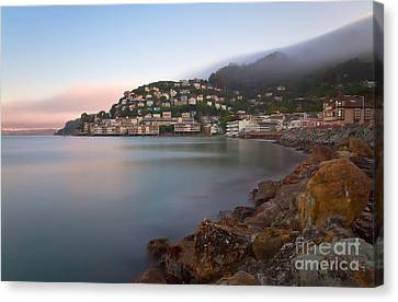 Canvas Print featuring the photograph City By The Sea by Jonathan Nguyen