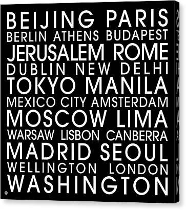 City Capitals Canvas Print by Gary Grayson