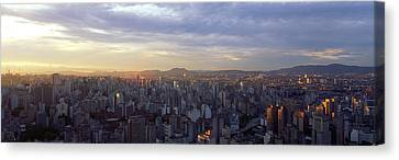 City Center, Buildings, City Scene, Sao Canvas Print by Panoramic Images