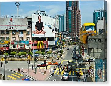 City Centre Scene - Kuala Lumpur - Malaysia Canvas Print by David Hill