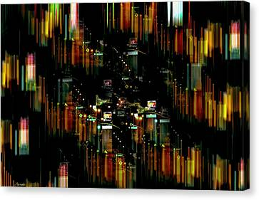 City Chaos #1 Canvas Print by Renee Anderson