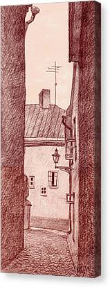 City Corridor A Canvas Print by Serge Yudin