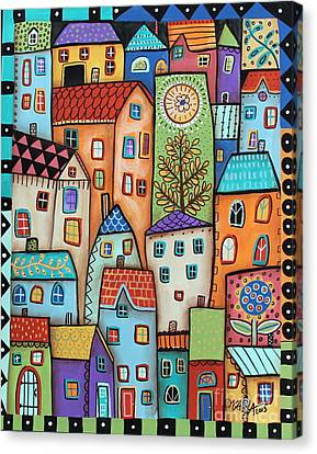 City Digs Canvas Print by Karla Gerard