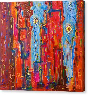 City Flowers Canvas Print