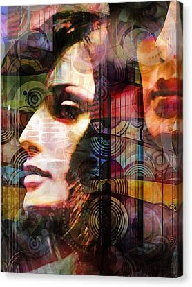 City Girls Color Canvas Print by Lutz Baar