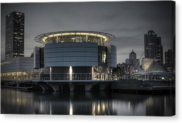 Canvas Print featuring the photograph City Glare by Deborah Klubertanz