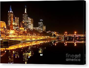 City Glow Canvas Print by Andrew Paranavitana