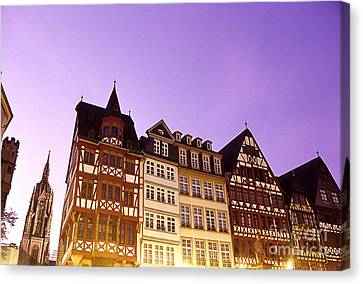 City Hall And Cathedral Frankfurt Germany Canvas Print by Ryan Fox