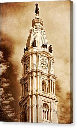 Tower Of City Hall - Downtown Philadelphia - One Penn Square Canvas Print