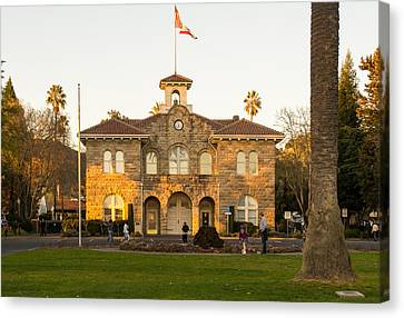 City Hall Sonoma Canvas Print by Rima Biswas