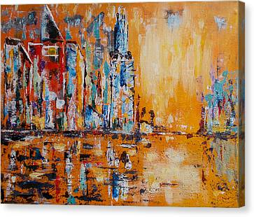 City In Gold Canvas Print
