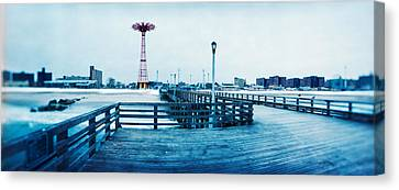 City In Winter, Coney Island, Brooklyn Canvas Print by Panoramic Images