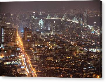City Lava Canvas Print