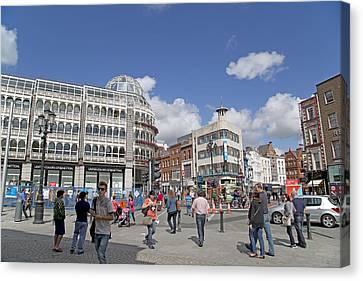 Dublin Building Colors Canvas Print - City Life -- Dublin Ireland by Betsy Knapp
