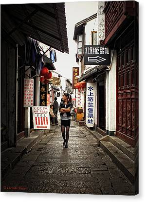 Canvas Print featuring the photograph City Life In Ancient China by Lucinda Walter