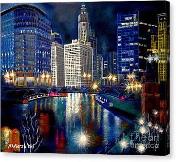 City Lights Canvas Print by Alicia Wierzbicki