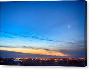 City Lights And A Venus Morning Sky Canvas Print by James BO  Insogna