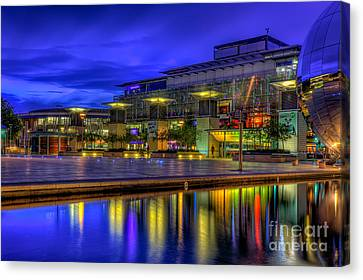 Sphere Canvas Print - City Lights @bristol by Adrian Evans