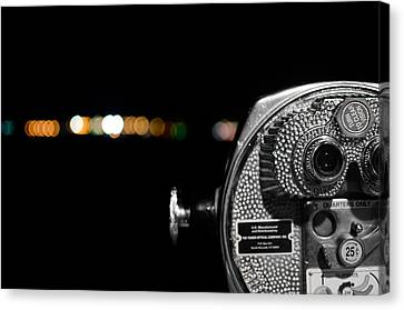 City Lights In Bokeh Canvas Print