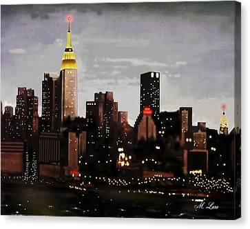 City Lights Canvas Print by Marcos Lara