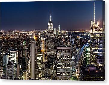 City Lights Canvas Print by Mihai Andritoiu