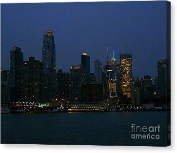 City Lights Of New York Canvas Print by Avis  Noelle