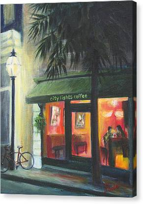 City Lights On Market St. Canvas Print