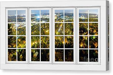 City Lights White Window Frame View Canvas Print by James BO  Insogna